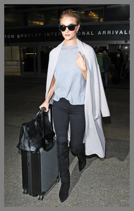 Rosie Huntington Whiteley is seen at LAX