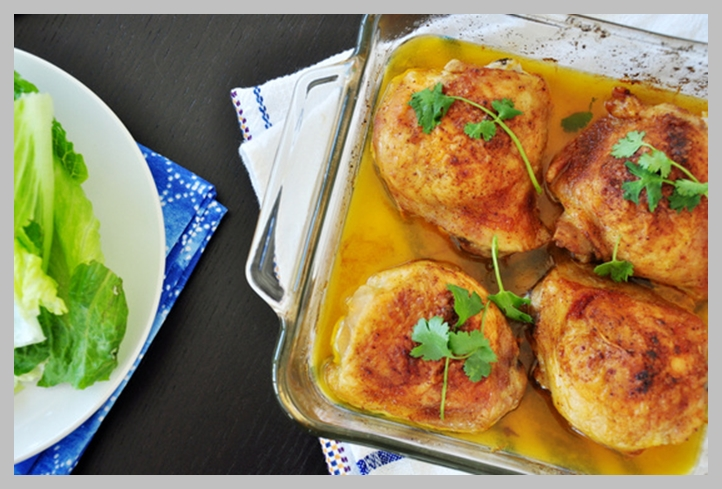 الدجاج بالفرن من المطبخ السعودي