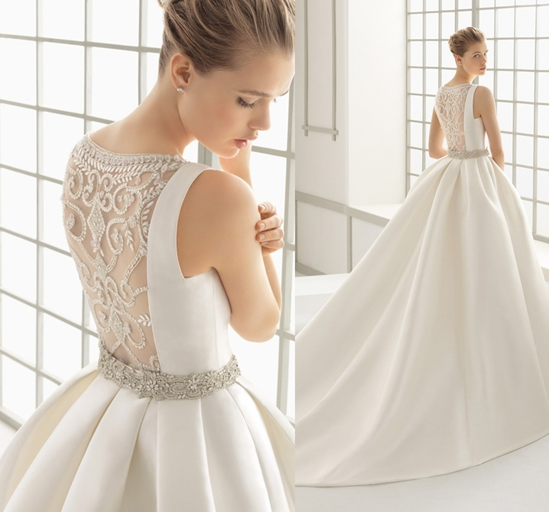 96d356cd11f80 فساتين عروس Rosa Clara لإطلالة ملكية ساحرة